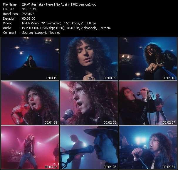 video Here I Go Again (1982 Version) screen
