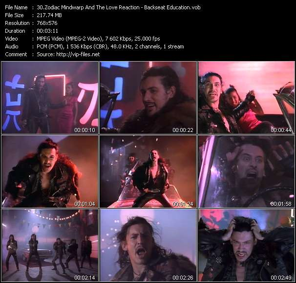 Zodiac Mindwarp And The Love Reaction video screenshot