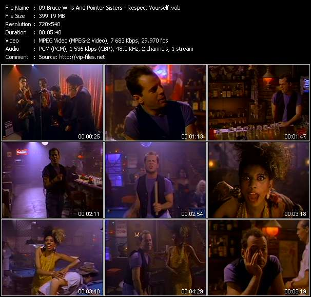 Bruce Willis And Pointer Sisters video screenshot