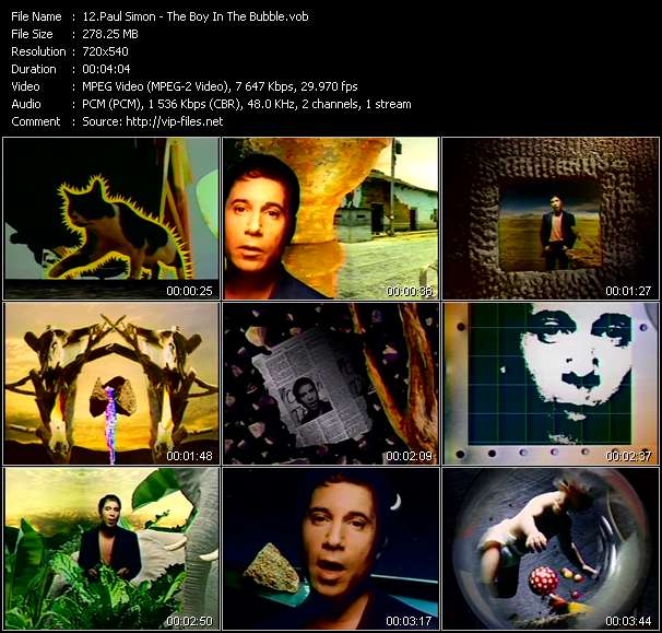 Paul Simon video screenshot