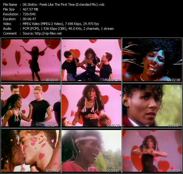 Sinitta video screenshot