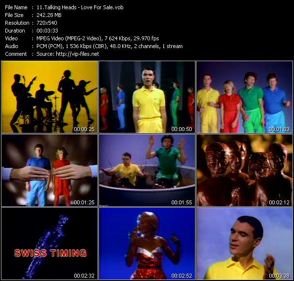 Talking Heads video screenshot