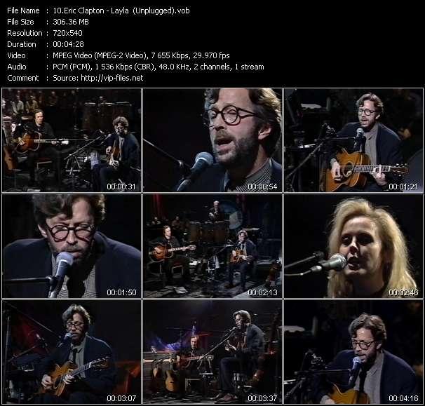 Eric Clapton video screenshot