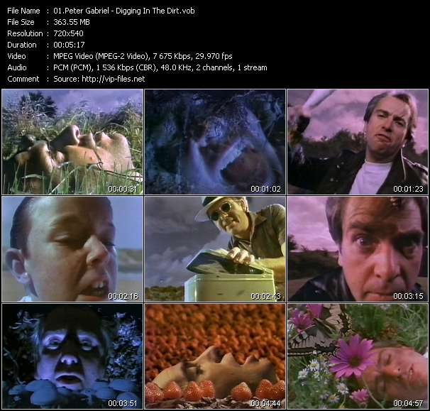 Peter Gabriel video screenshot