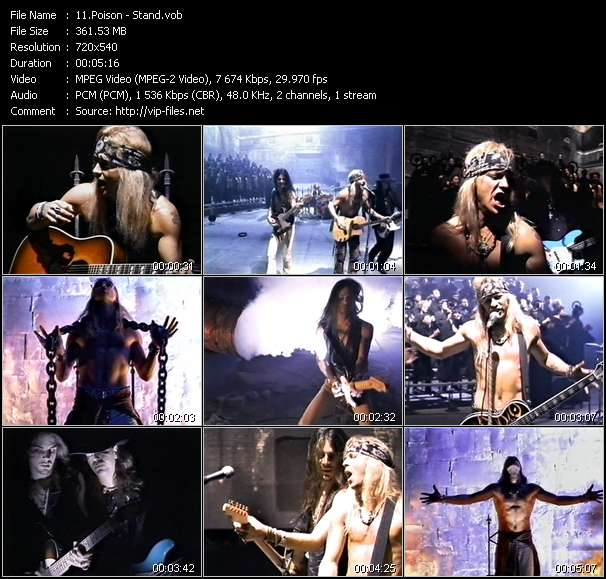 Poison video screenshot