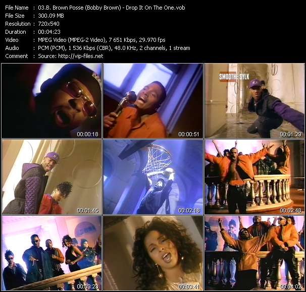 B. Brown Posse (Bobby Brown) video screenshot