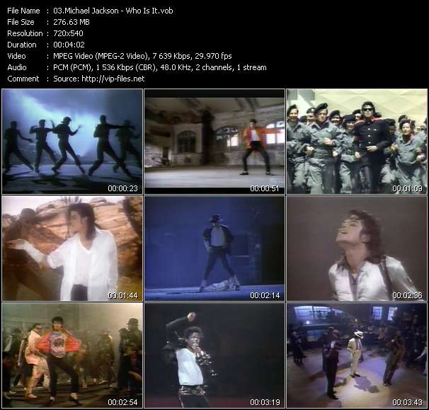 Michael Jackson video screenshot