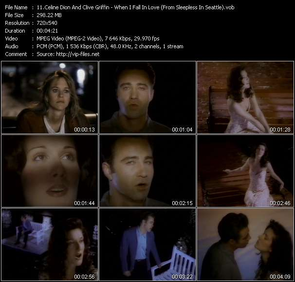 Celine Dion And Clive Griffin video screenshot