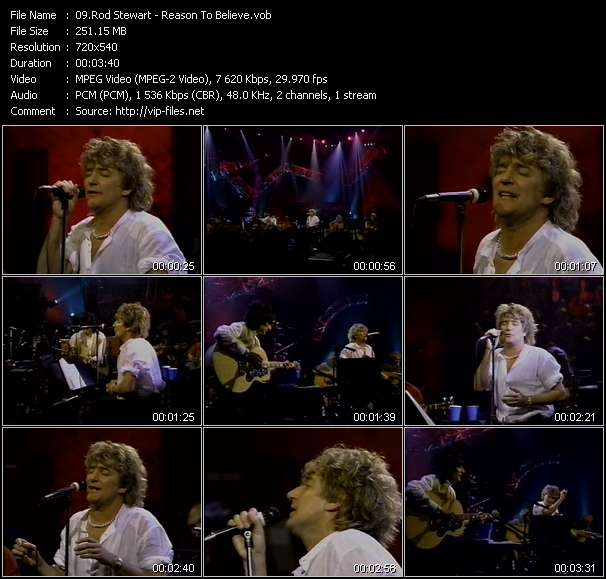 Rod Stewart video screenshot