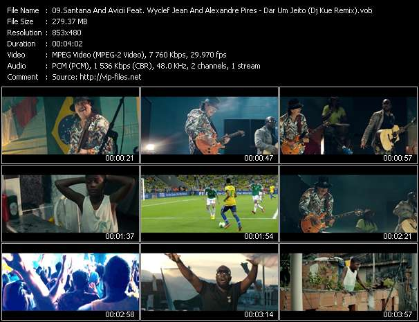 Santana And Avicii Feat. Wyclef Jean And Alexandre Pires video screenshot