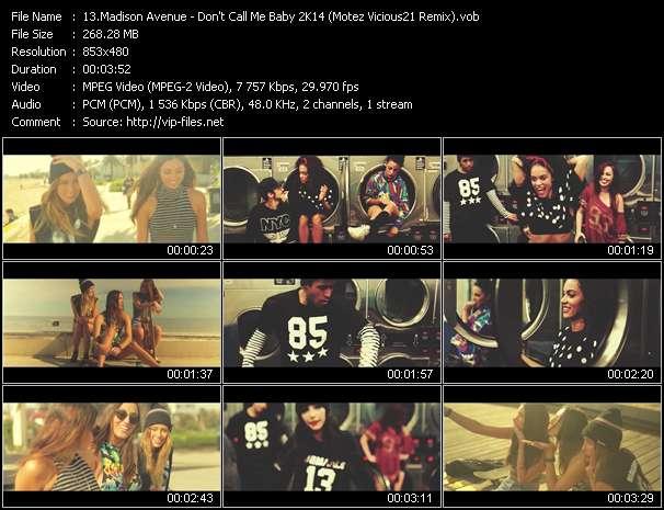 video Don't Call Me Baby 2K14 (Motez Vicious21 Remix) screen