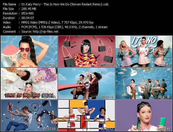 Katy Perry video screenshot