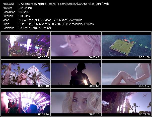 video Electric Stars (Alvar And Millas Remix) screen