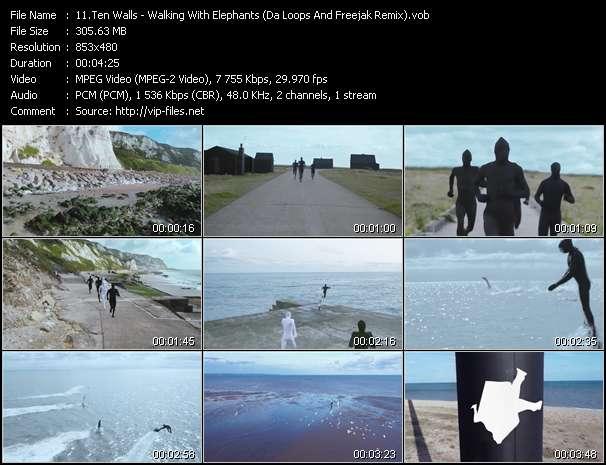 video Walking With Elephants (Da Loops And Freejak Remix) screen