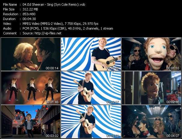 Ed Sheeran video screenshot