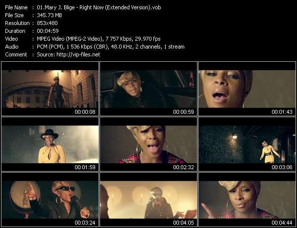 Mary J. Blige video screenshot