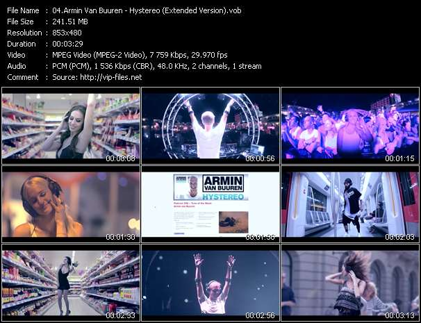Armin Van Buuren video screenshot