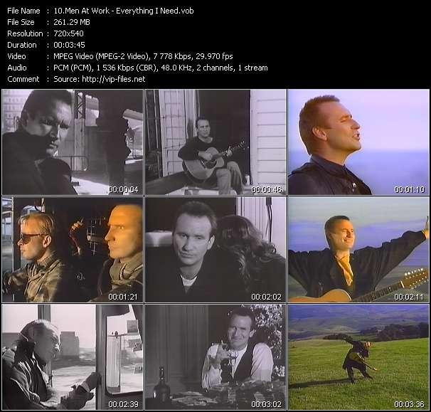 Men At Work video screenshot