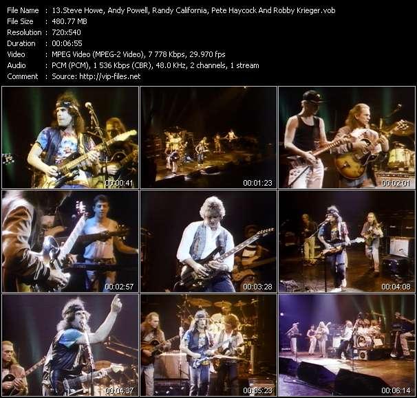 Steve Howe, Andy Powell, Randy California, Pete Haycock And Robby Krieger video screenshot