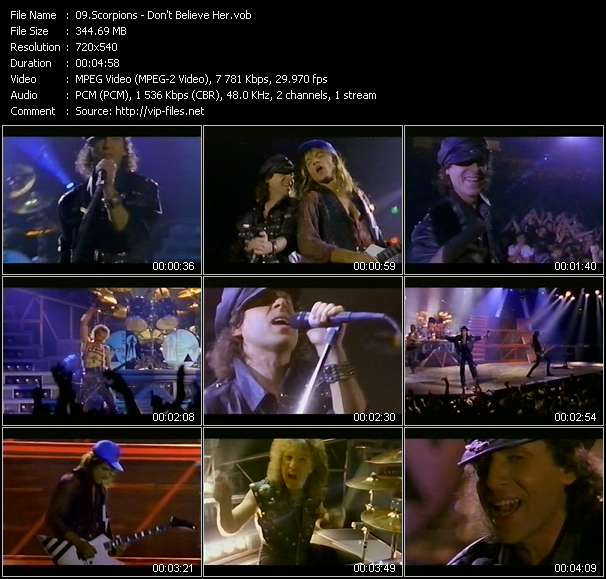 Scorpions video screenshot