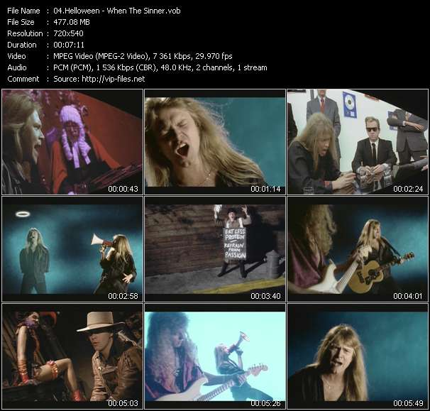 Helloween video screenshot