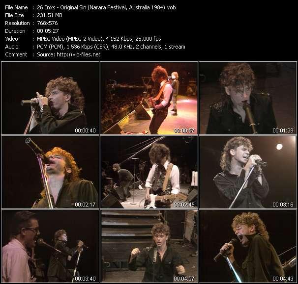 video Original Sin (Narara Festival, Australia 1984) screen