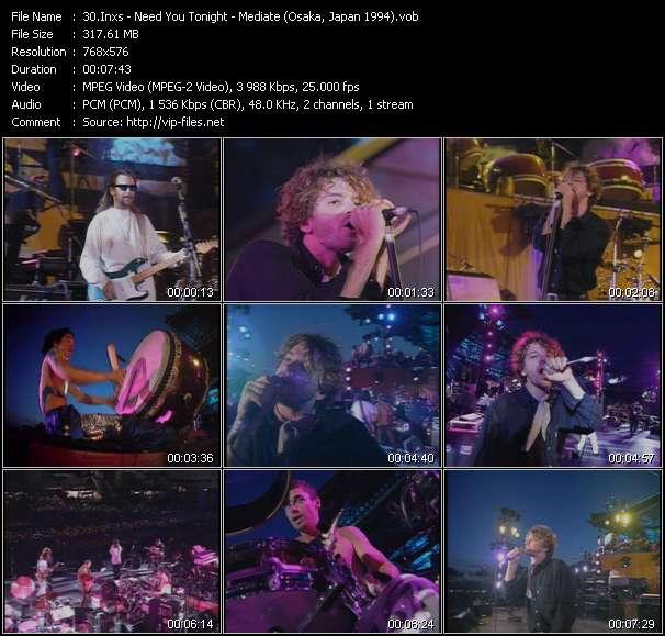 video Need You Tonight - Mediate (Osaka, Japan 1994) screen