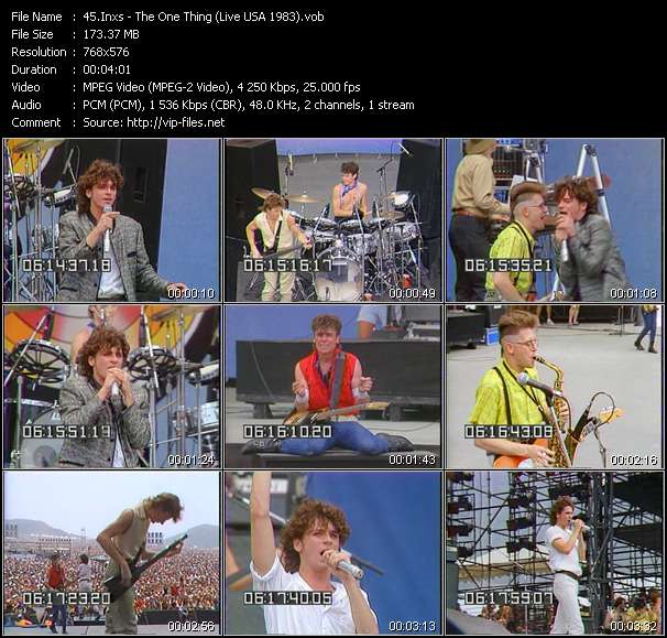video The One Thing (Live USA 1983) screen