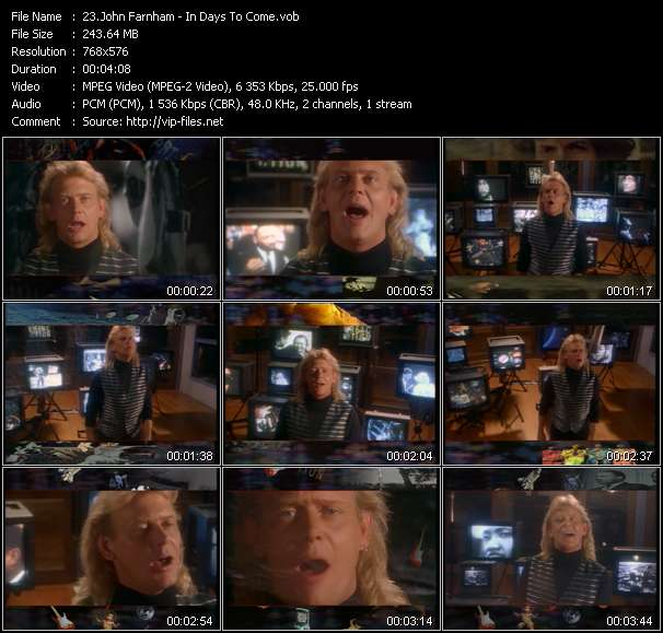 John Farnham video screenshot