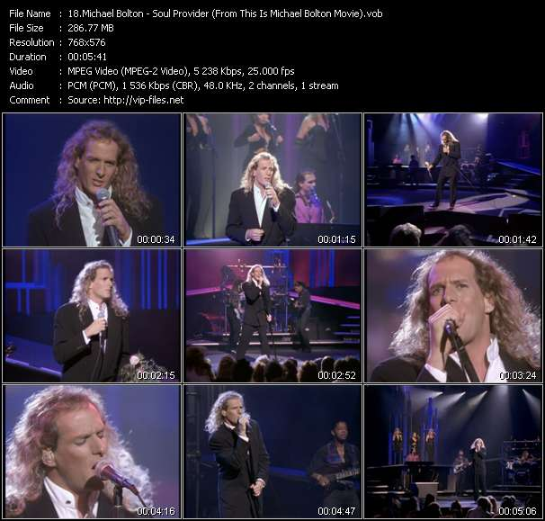 "video Soul Provider (From ""This Is Michael Bolton"" Movie) screen"