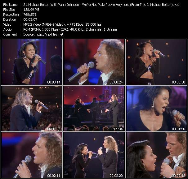 """video We're Not Makin' Love Anymore (From """"This Is Michael Bolton"""" Movie) screen"""