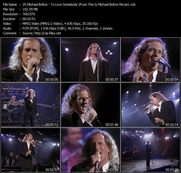 "video To Love Somebody (From ""This Is Michael Bolton"" Movie) screen"