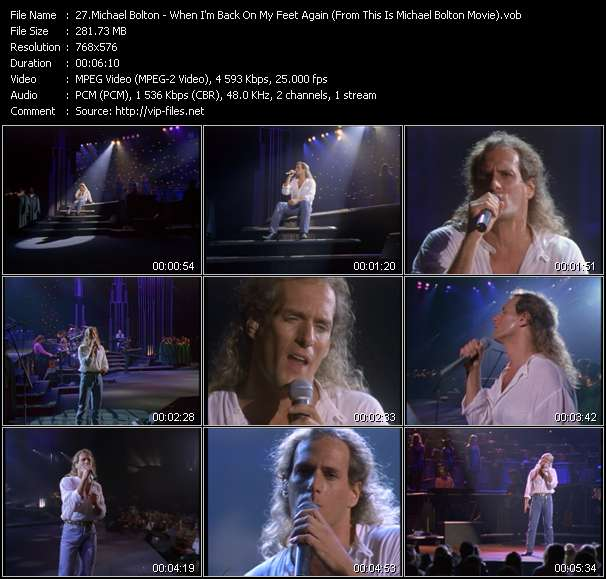 """video When I'm Back On My Feet Again (From """"This Is Michael Bolton"""" Movie) screen"""