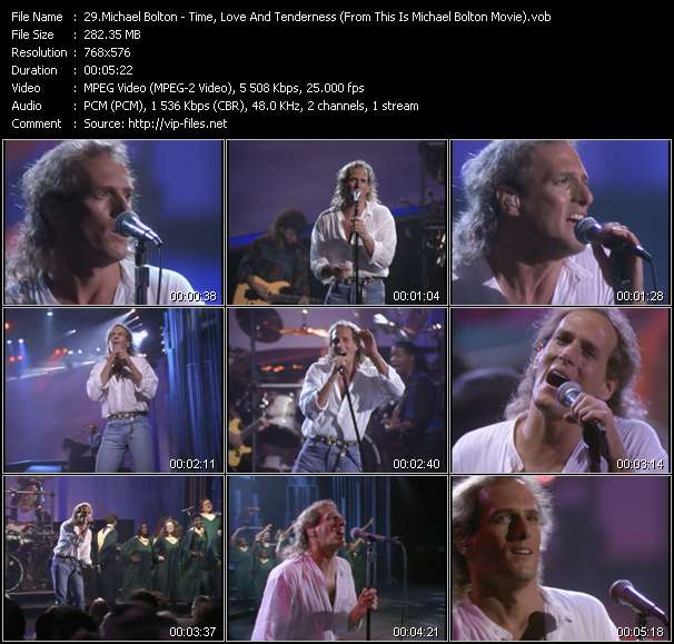 "video Time, Love And Tenderness (From ""This Is Michael Bolton"" Movie) screen"