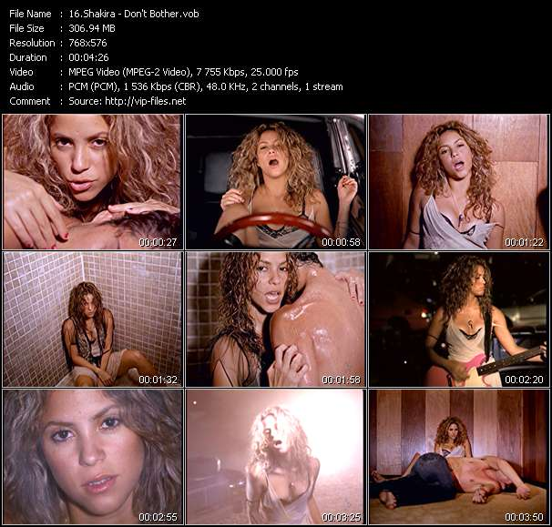 Shakira video screenshot