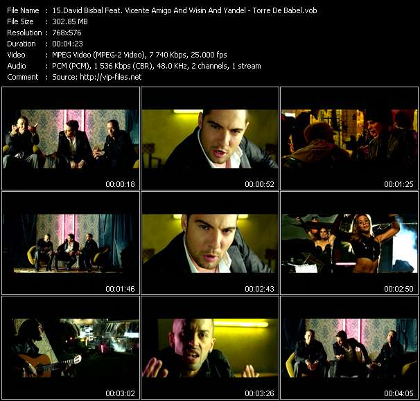 David Bisbal Feat. Vicente Amigo And Wisin And Yandel video screenshot