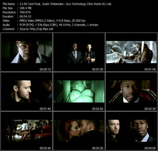 50 Cent Feat. Justin Timberlake video screenshot