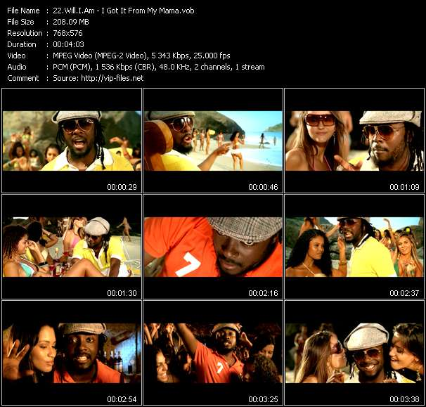 Will.I.Am video screenshot