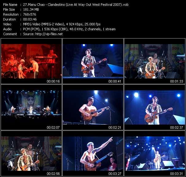 Manu Chao video screenshot