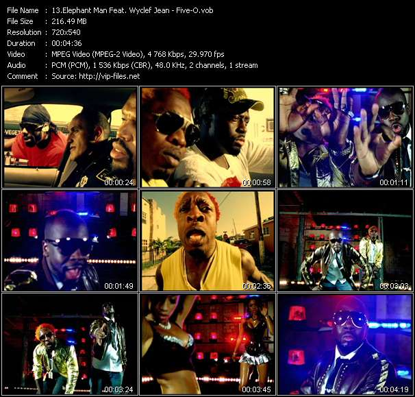 Elephant Man Feat. Wyclef Jean video screenshot