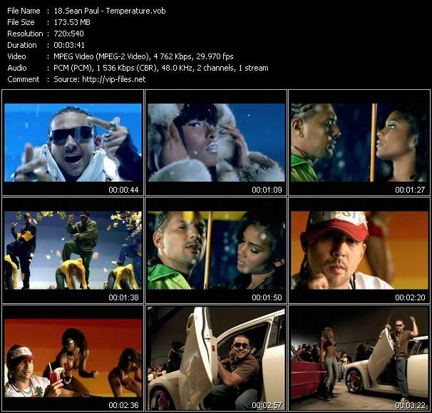 Sean Paul video screenshot