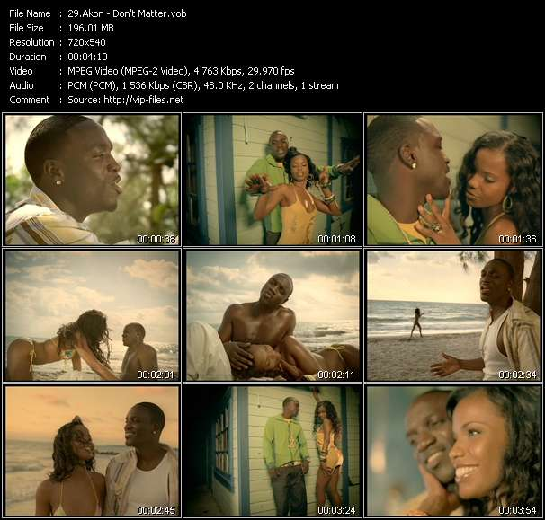 Akon video screenshot