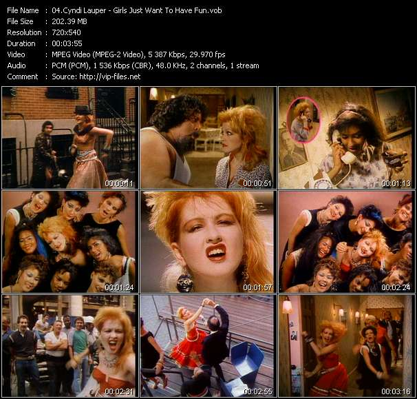 Cyndi Lauper video screenshot