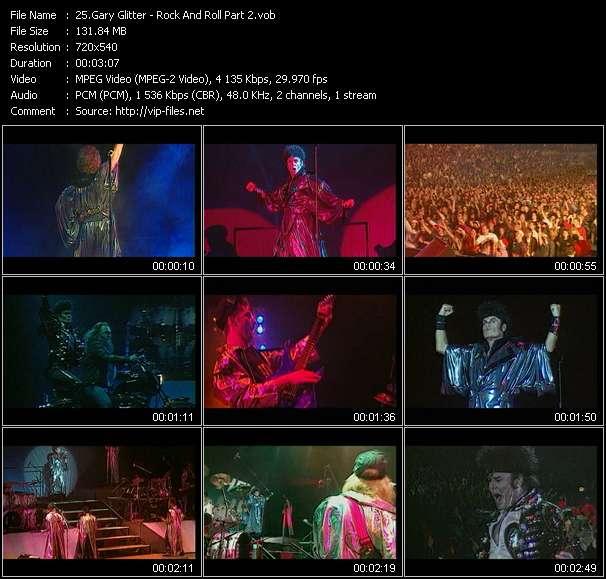 Gary Glitter video screenshot