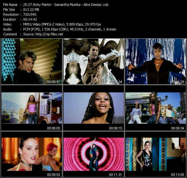 Ricky Martin - Samantha Mumba - Alice Deejay video screenshot