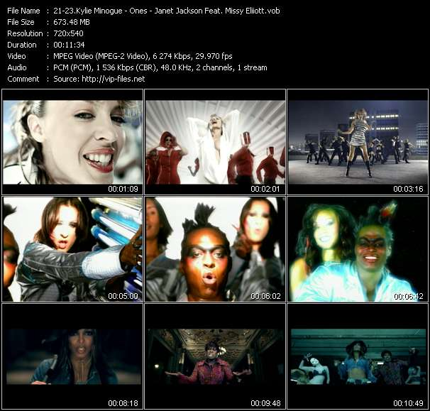 Kylie Minogue - Ones - Janet Jackson Feat. Missy Eliiott video screenshot