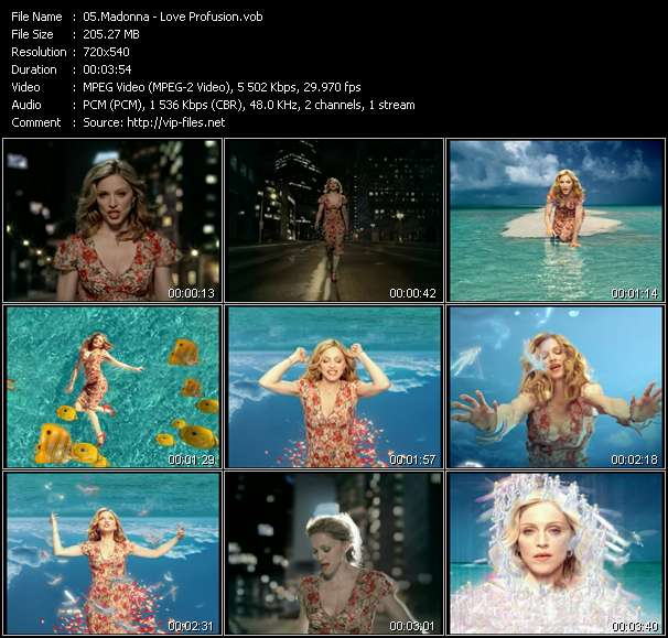 Madonna video screenshot