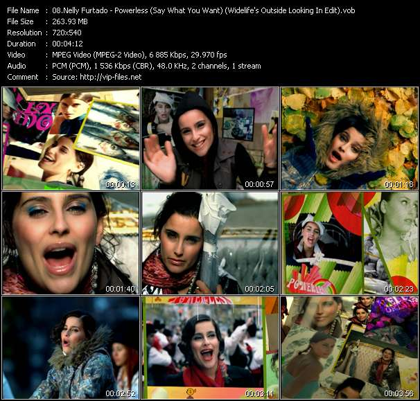 Nelly Furtado video screenshot