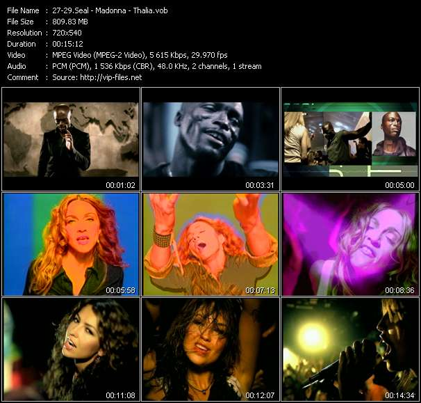 Seal - Madonna - Thalia video screenshot