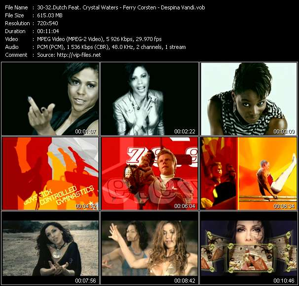 Dutch Feat. Crystal Waters - Ferry Corsten - Despina Vandi video screenshot